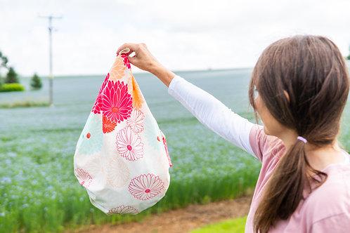 furoshiki bag in garden
