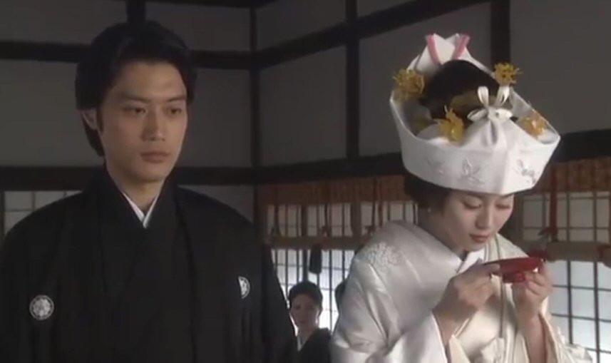Japanese Shinto wedding, Zusetsu furoshiki, sake