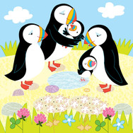 Family puffins