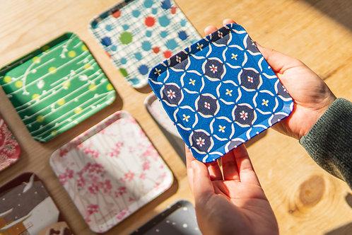 Kyoto Washi Paper Tray - Indigo