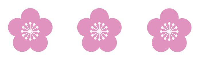 Zusetsu furoshiki plum blossom logo