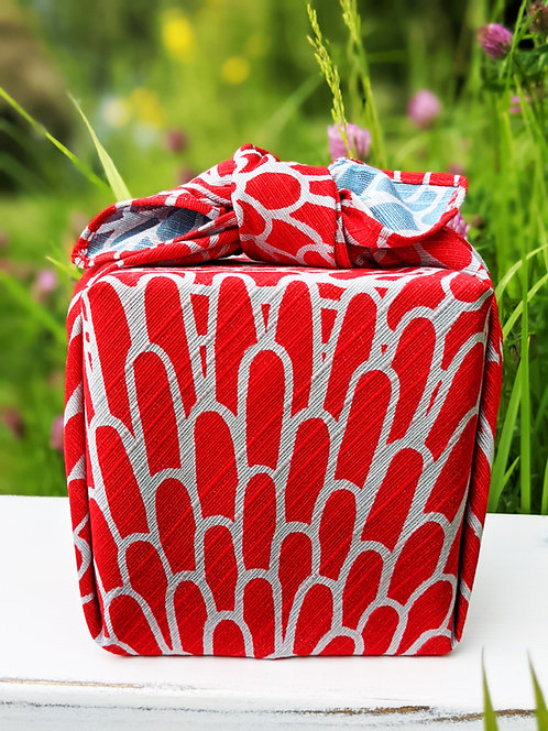 Chrysanthemum furoshiki gift wrapped present