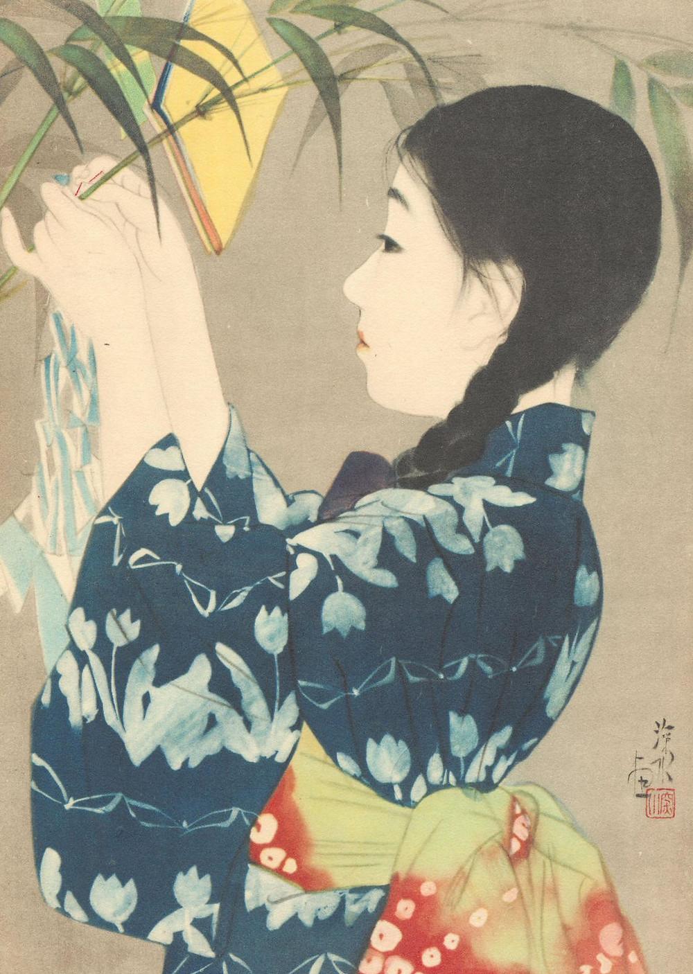 tanabata, wish tree, star festival, Japanese art, Zusetsu Store