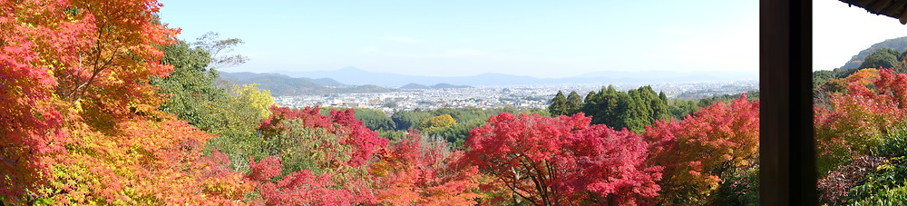 view across Kyoto