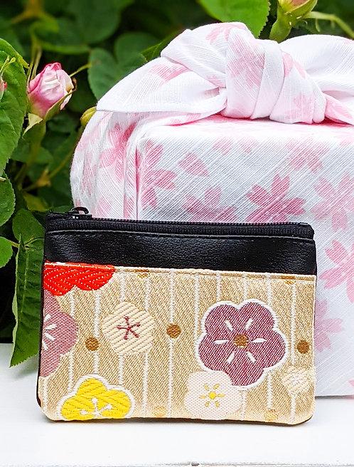 plum blossom card case and furoshiki