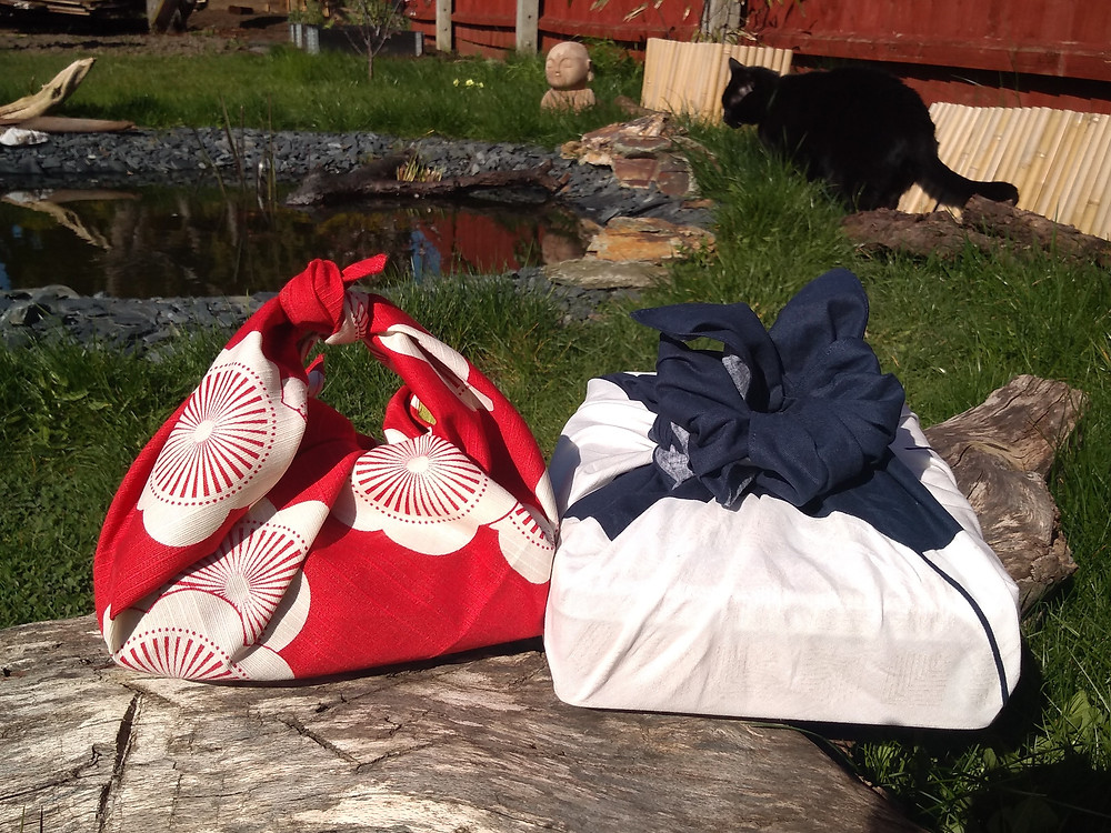 Zusetsu store, furoshiki gift wrap, present, garden, gifts, birthday