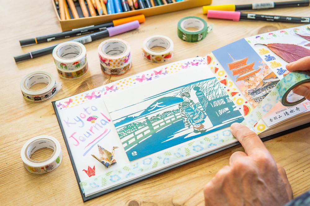 Zusetsu washi tape Kyoto journal