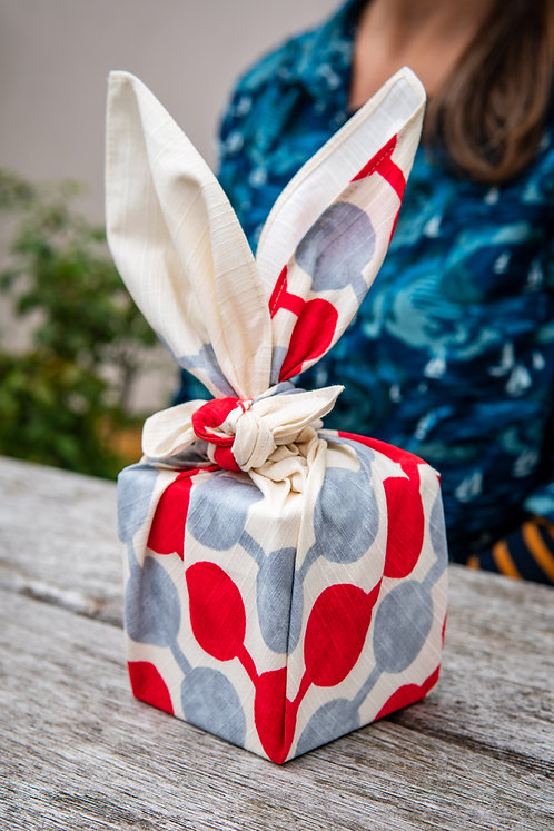 Japanese furoshiki gift wrapped present