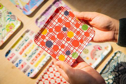 Kyoto Washi Paper Tray - Orange