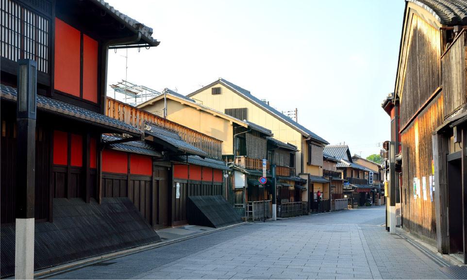 Kyoto Gion okiya geisha zusetsu store furoshiki