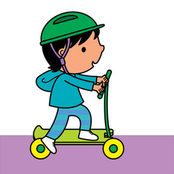 3. Finn and his scooter-01