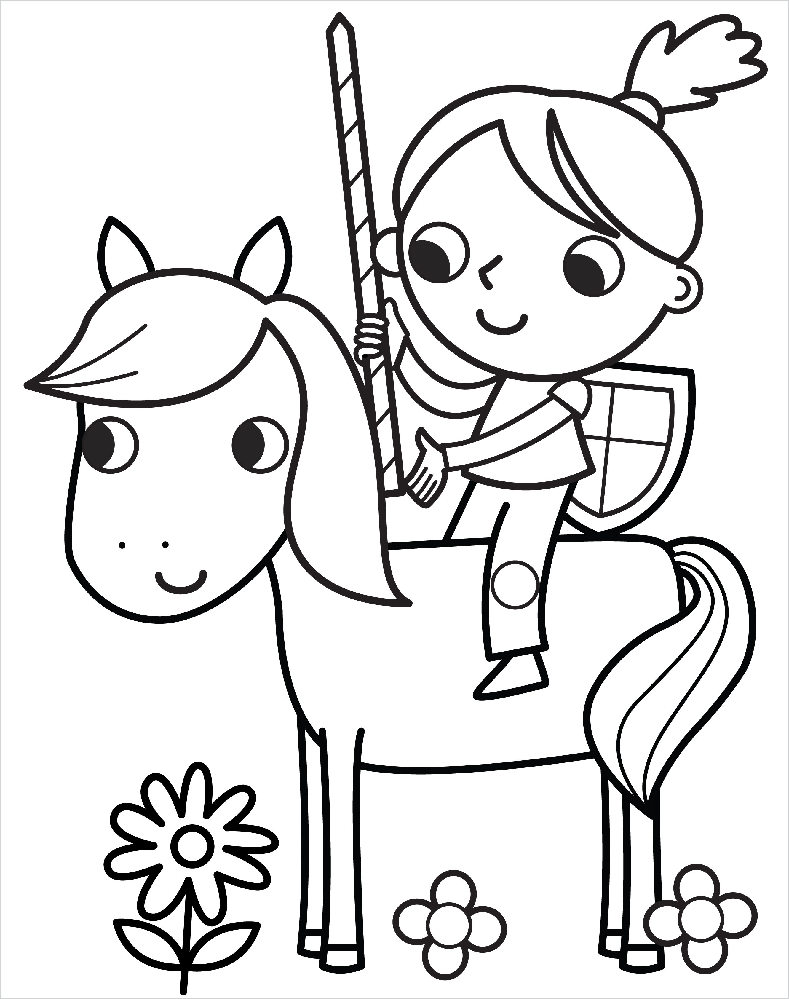 1.Girl knight on horse