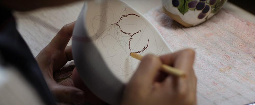 painting, teabowl, tea, pottery, glazing, art, Japanese art, Zusetsu Store