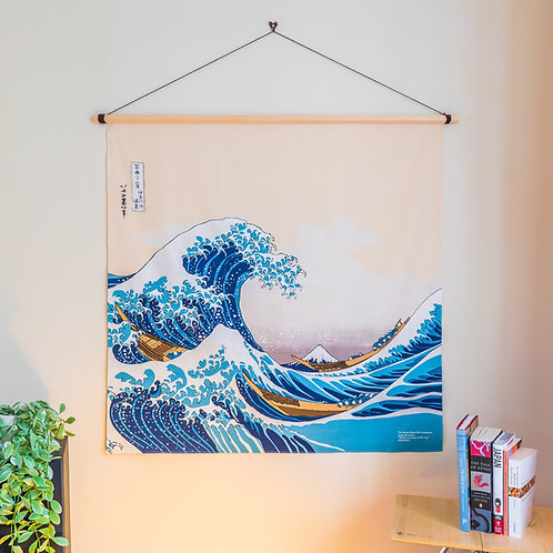 104cm Ukiyoe Furoshiki The Great Wave by Hokusai