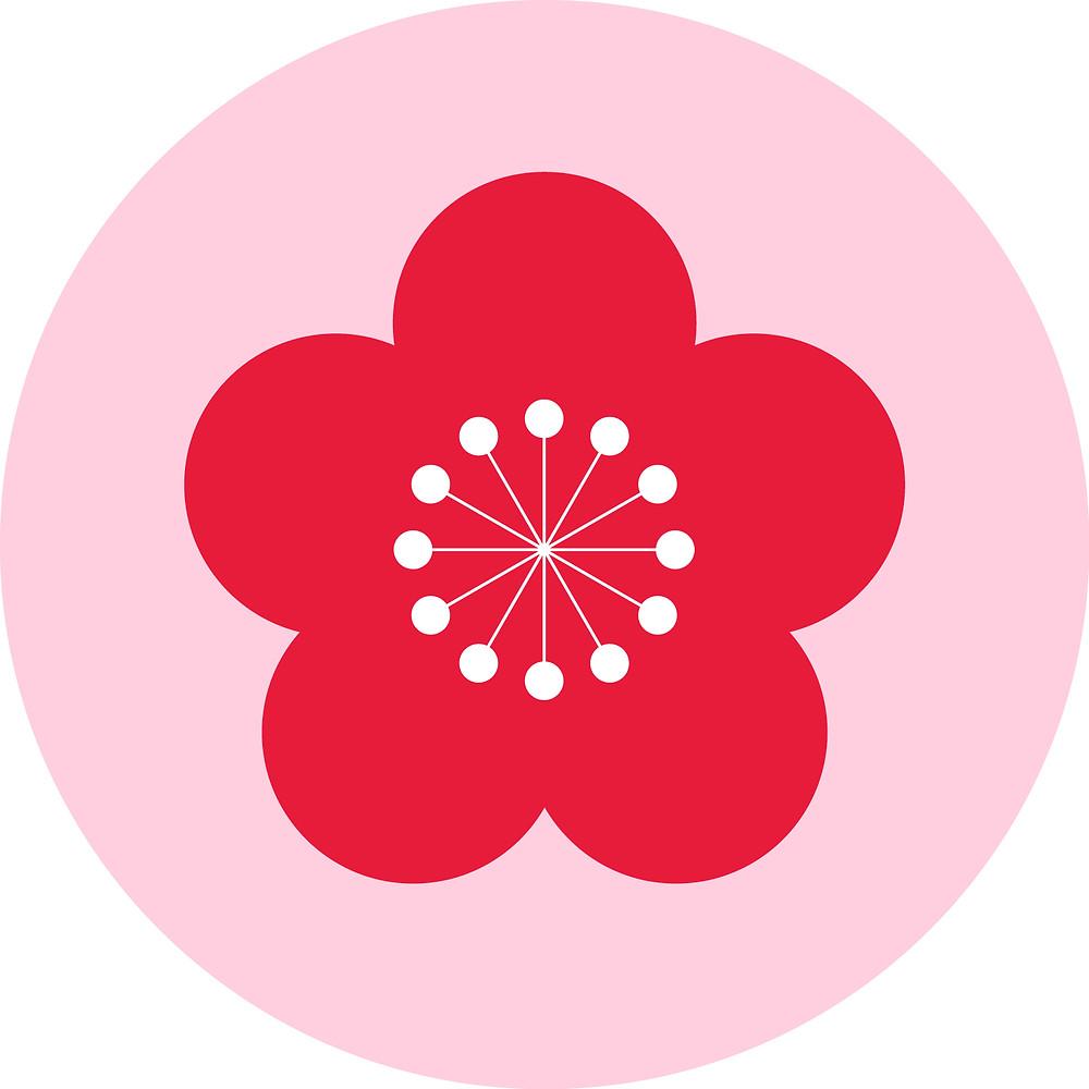 zusetsu blossom furoshiki christmas Japanese gift wrap fabric cloth