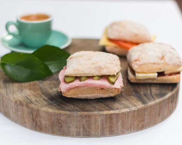 Ham, butter & pickles
