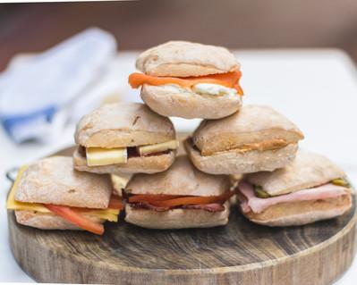 Small Breakfast sandwiches