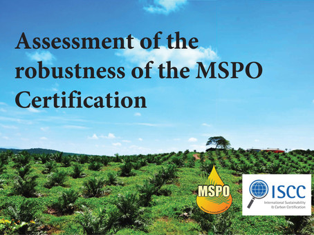 (MSPO-ISCC) Assessment of the robustness of the MSPO Certification