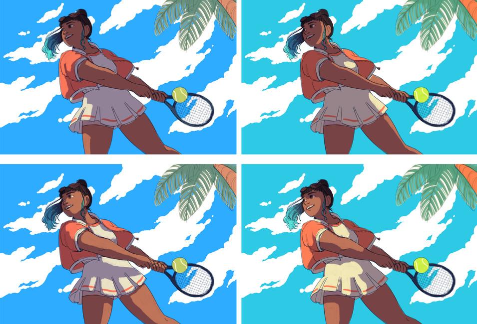 Summer Tennis Lighting Studies