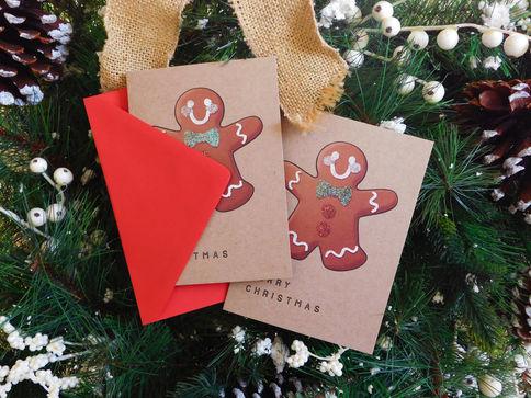 Embossed Gingerbread Cards