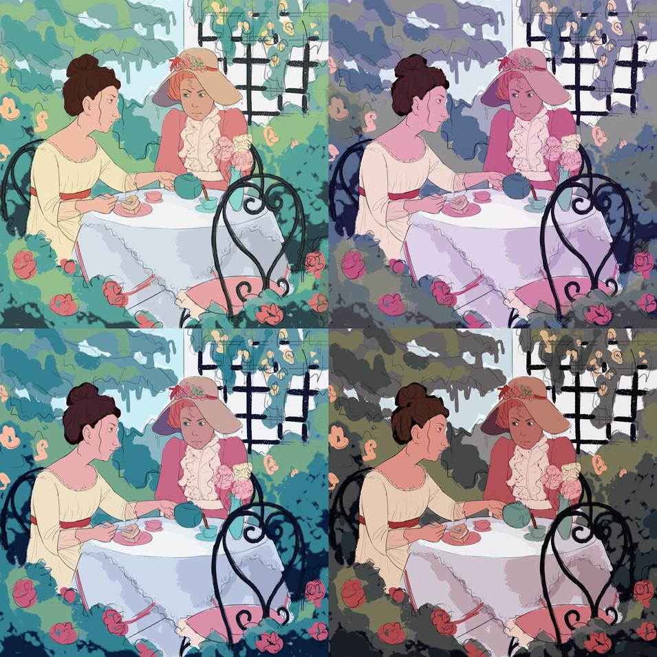 Tea Party Colour Studies
