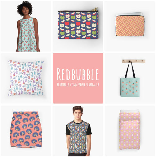 Abbi Udell's pattern and product designs on Redbubble