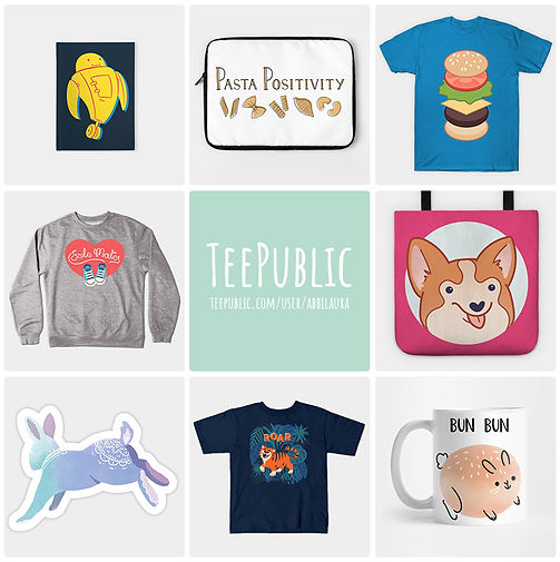 Abbi Udell's pattern and product designs on TeePublic