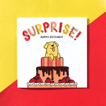 Surprise Puppy Birthday Card