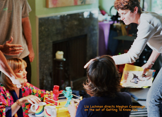 Liz on the set of Getting to Know You