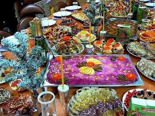 Новогодний стол на 6 человек