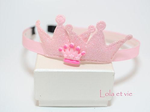 diadeem crown licht roze