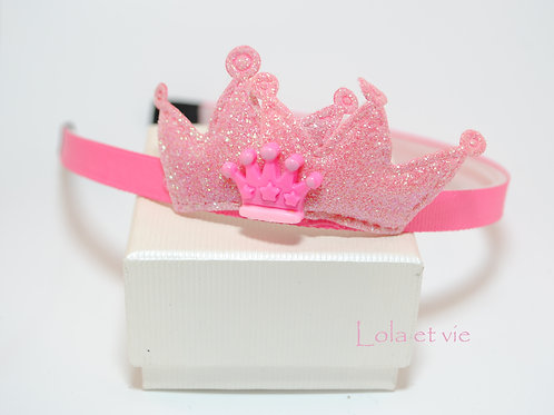 diadeem crown pink