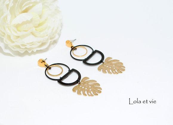 oorbellen zwart goud