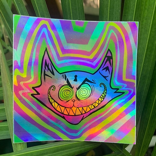 Cheshire Smile- Holographic Sticker!
