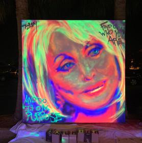 Neon St Dolly (blacklight)
