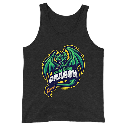 Unisex Baby Dragon Tri-Blend Tank Top