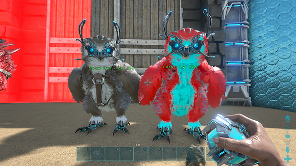 226/216 Unleveled Breeding Pair Colorful Event Snow Owls