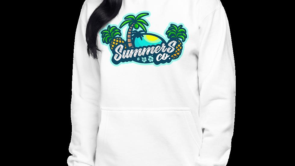 Unisex White Premium SummersCo Hoodie