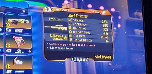 536 Ledgendary Stark Krokatoo Sniper Level 50 (Xbox One)