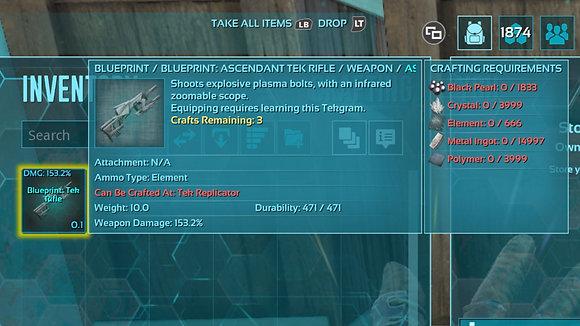 153.2 Dam ACD Tek Rifle BP