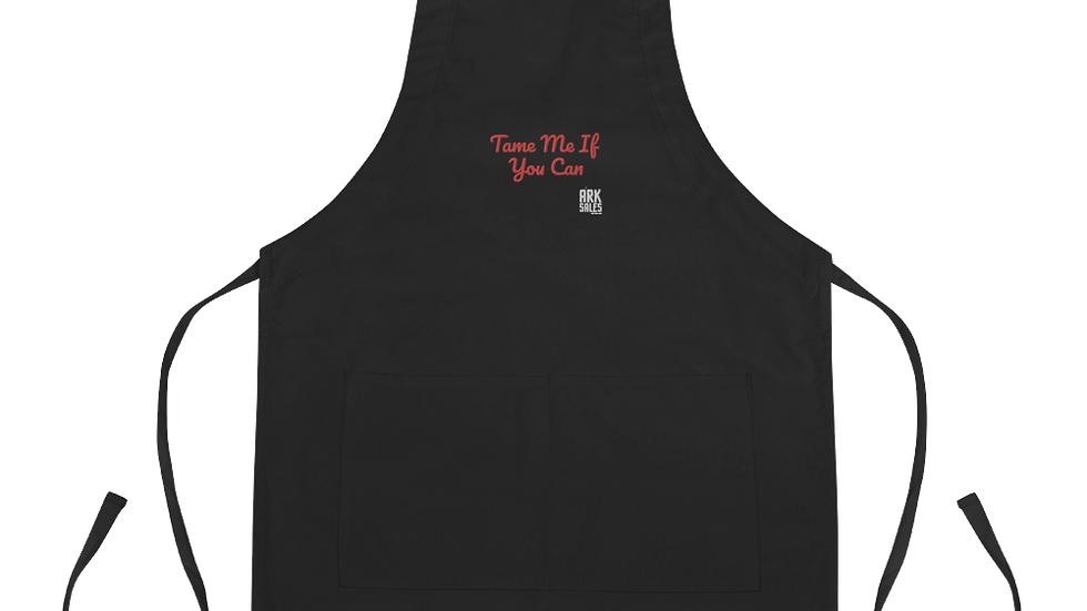 Embroidered Apron Tame Me If You Can