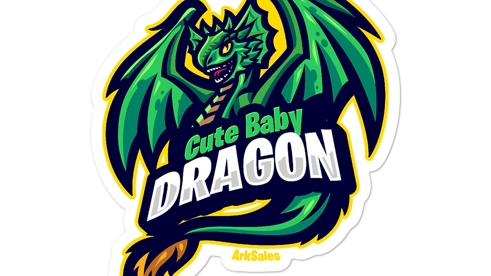 Baby Dragon Bubble-free stickers