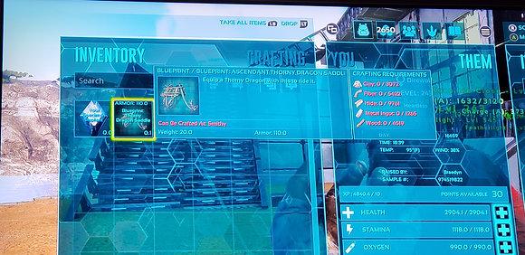 110 Armor ACD Thorny Dragon BP