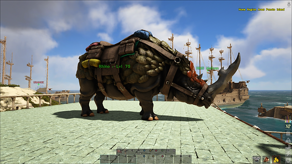 Super High Level Rhino W/Saddle
