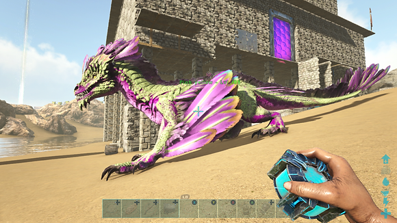 185 Unleveled Pink Pale Green Rare Original Rock Drake
