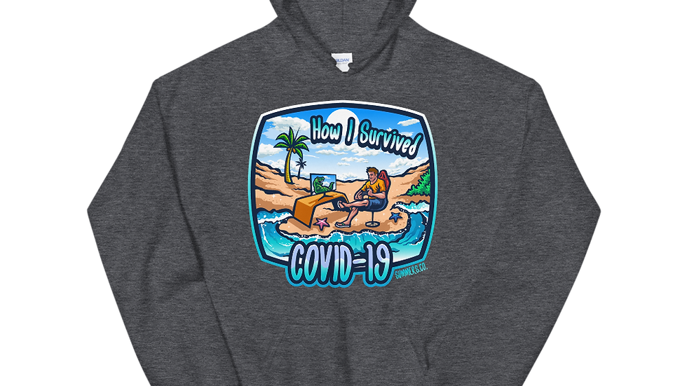 Unisex Male Survived Covid-19 Hoodie