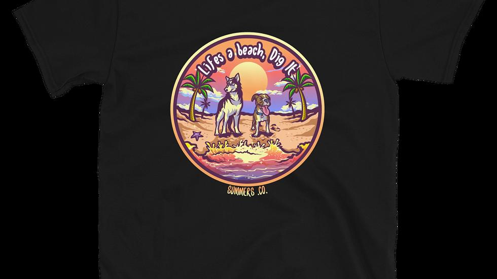 Unisex 100% Cotton Lifes A Beach T-Shirt