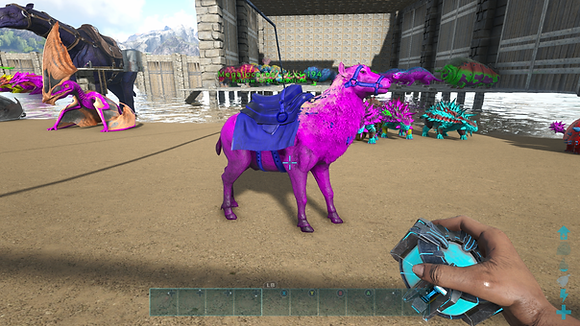 194 Unleveled Pink Event Mageloceros W/MC Saddle