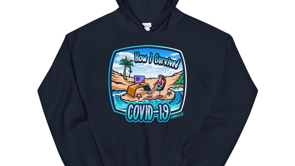 Unisex Female Survived Covis-19 Hoodie