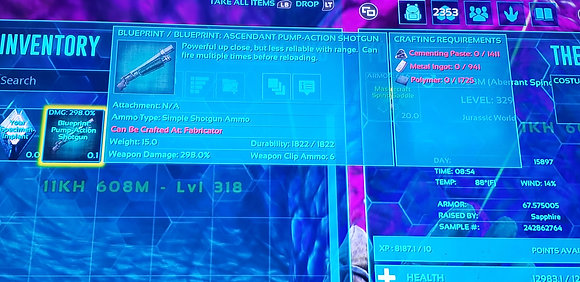 GOD SHOTGUN BP WITH 1822 DURABILITY MAXED OUT!!! (BEST BP IN GAME)